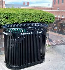 recycling outdoor garbage cans for trash organizer idea