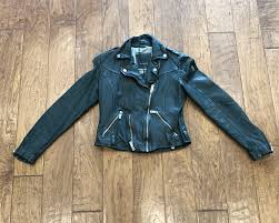 mauritius wild black womens belted leather jacket 3