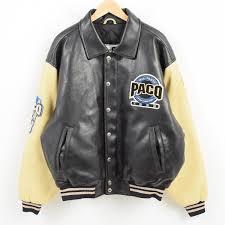 paco sport all team sports edition 合皮 oar leather award jacket men xl wak6719