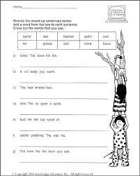 Kindergarten sentence writing practice worksheets