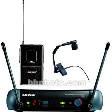 Shure Pgx Series Wireless Microphone System Includes Pgx4 Receiver Pgx1 Bodypack Transmitter And Wb98 Clip On Instrument Microphone L5 644