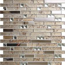 mirror mosaic tiles. beveled mirror glass mosaic tile strip wall - foshan lilac building material co., tiles