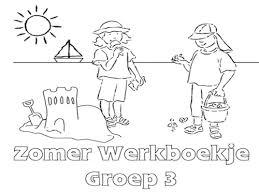 Zomer Werkboekje Groep 3 Werkboekjes Printen Op Minipretnl