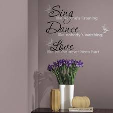 Sing Dance Love Quote Wall Decals RoomMates Best Love Wall Quotes