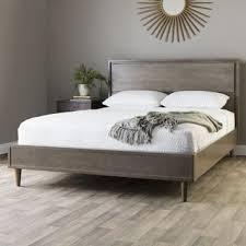 gray wood bed frame. Wonderful Gray Shop Jasper Laine Vilas Light Charcoal Queen Midcentury Style Bed  Free  Shipping Today Overstockcom 6673551 Intended Gray Wood Frame
