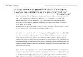 how historically accurate is the film glory glory tells the  document image preview