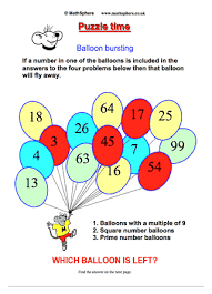 Maths Chart Work For Exhibition Free Maths Puzzles Mathsphere