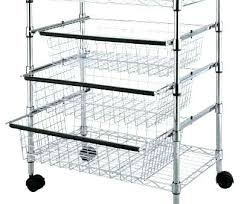 sliding wire basket metal shelf baskets top tier kitchen drawers with storage for