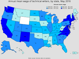 technical writers top paying states for this occupation