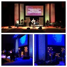 church lighting ideas. very creative way to cut cost and still apear that you have an led wall or church lighting ideas o