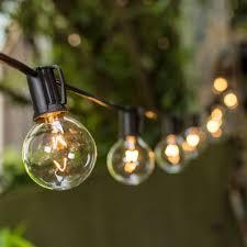 g40 edison 100ft globe bulb string outdoor lights with led globe string lights warm white