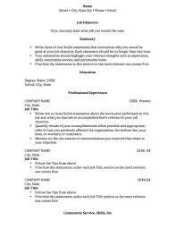 College Resume Builder Resume Example