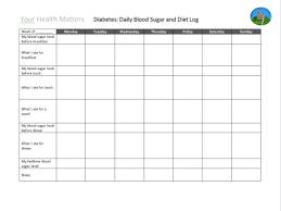 Diabetic Blood Sugar And Insulin Log Abc Diabetes