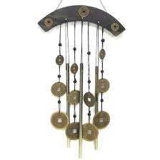 3 bells home decoration outdoor wind chimes traditional folk hanging