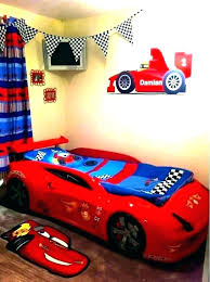red race car bed racer themed bedroom kidkraft racecar toddler twin