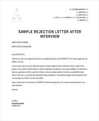 Job Offer Rejection Letter Sample Free Refusal Letter Omfar Mcpgroup Co