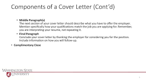 Components Of A Good Cover Letter Writing Cover Letters Cvs And Resumes Ppt Download
