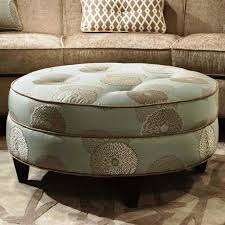 Living Room Awesome Round Upholstered Coffee Table With Appealing With  Regard To Round Coffee Table Ottoman