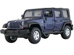 jeep wrangler unlimited rubicon 4 doors blue 1 32 by bburago 43012