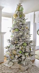 Inspiring Christmas Trees | Flocked christmas trees, Christmas ...