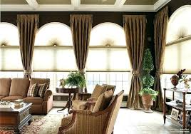 ds for large windows curtain ideas living room window treatments arched sheer curtains