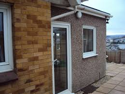 exterior masonry paint reviews. a 1970\u0027s brick-faced house with 1980\u0027s pebbledashed extension exterior masonry paint reviews