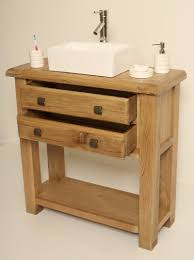 wine barrel bathroom vanity 28 inch natural finish with copper sink
