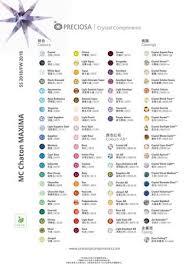 Maxima Colour Chart By Preciosa Crystal Components Issuu