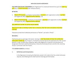 Nda Template Agreement Non Disclosure Agreement Template Uk Template Agreements And