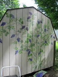outdoor decorating walls stencils
