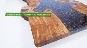 Massivholz Tische Mit Kunstharz Fantasteak Youtube