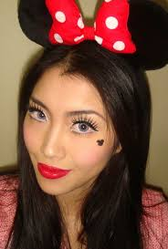 minus the strange look on her face this is really sweet cute step by step tutorial minnie mouse makeup look