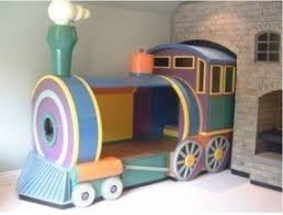 Train bed toddler