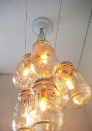 mason jar chandelier light open