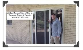 sliding screen doors how to remove
