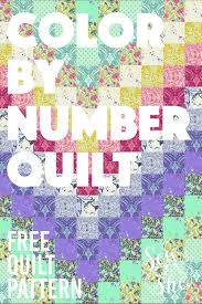 It develops fine motor skills, thinking, and fantasy. Sew A Color By Number Quilt Free Quilt Pattern With Printables Sewcanshe Free Sewing Patterns And Tutorials