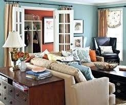 blue orange living room interior turquoise and orange decor decoration