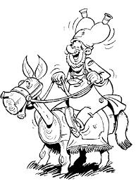 Kleurplaat Klus Is Aan Het Paardje Rijden Op Een Houten Paard