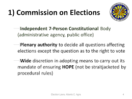 Election Law Review Alberto C Agra Ppt Video Online Download