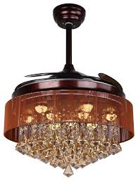 crystal chandelier with fan function oil rubbed bronze