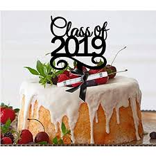 Black Class Of 2019 School Graduation Cake Decoration Topper