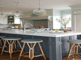 Light Gray Kitchen Kitchen Grey Kitchen Island Blue Stools Pictures Decorations