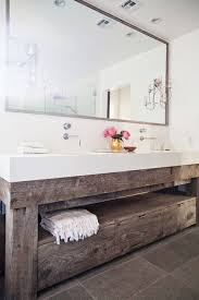 bathroom layout ideas rustic wooden vanity: modern and rustic bathroom vanity from a reclaimed wood pattonmelo