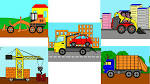 Рабочие машины онлайн раскраски
