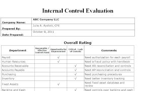 Internal Audit Findings Template Internal Audit Report