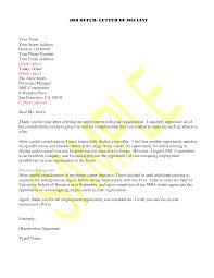 Job Offer Rejection Templates At Allbusinesstemplates Com