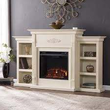 Harper Blvd Dublin 70-inch Ivory Electric Fireplace - Free Shipping Today -  Overstock.com - 13196985