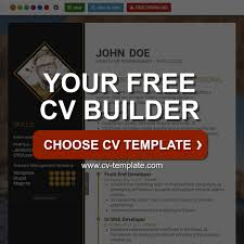 Cv Template Free Online Cv Builder Best Cv Templates