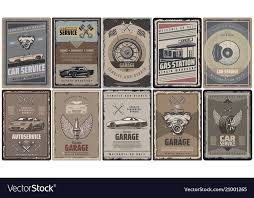 Old Brochures Vintage Car Service Brochures Collection Vector Image