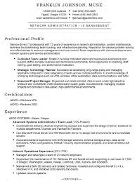 Resume Network Administrator Resume Examples Best Inspiration For